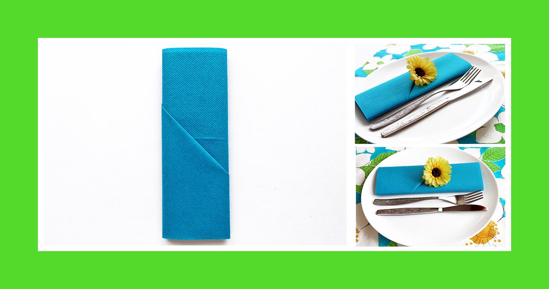 Papierservietten zur Grillparty falten