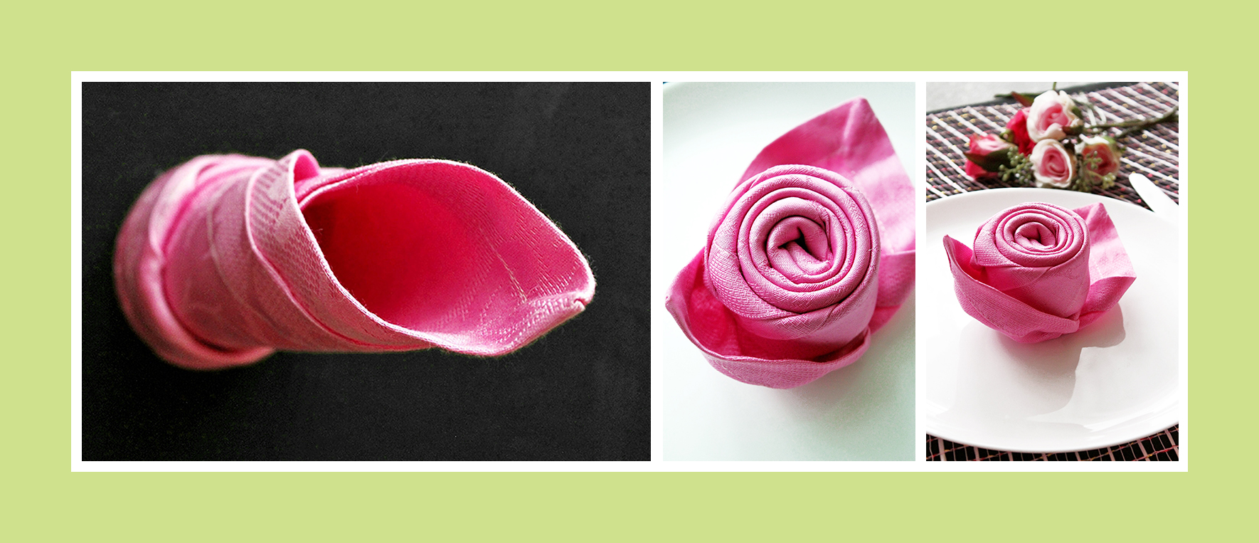 Eine Rose aus Serviette falten