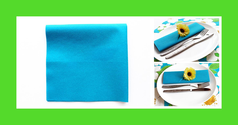 schnelle-bestecktasche-aus-blauen-papierserviette-zur-grillparty