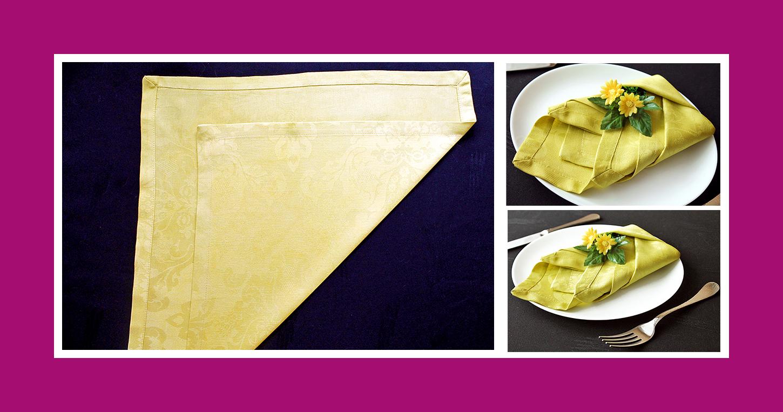 Servietten falten Anleitung Tulpe aus Stoffserviette 1