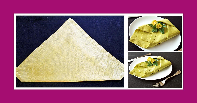 Servietten falten Anleitung Tulpe aus Stoffserviette Sommer