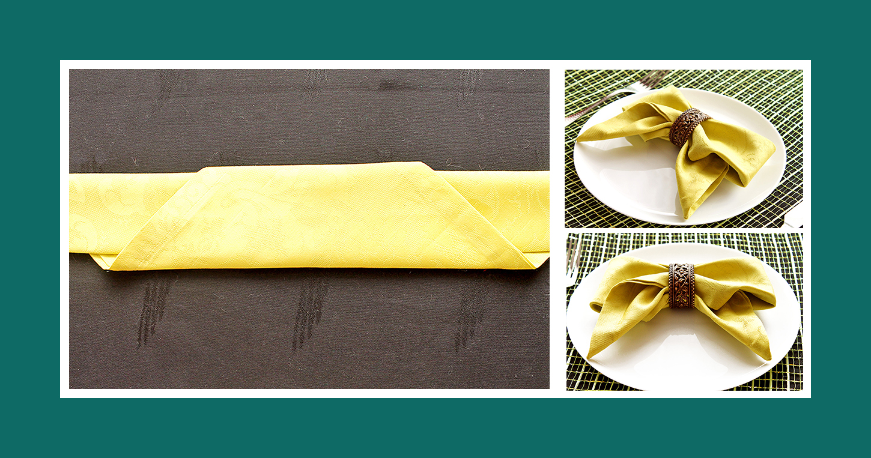 Servietten falten mit Ring schnell und einfach