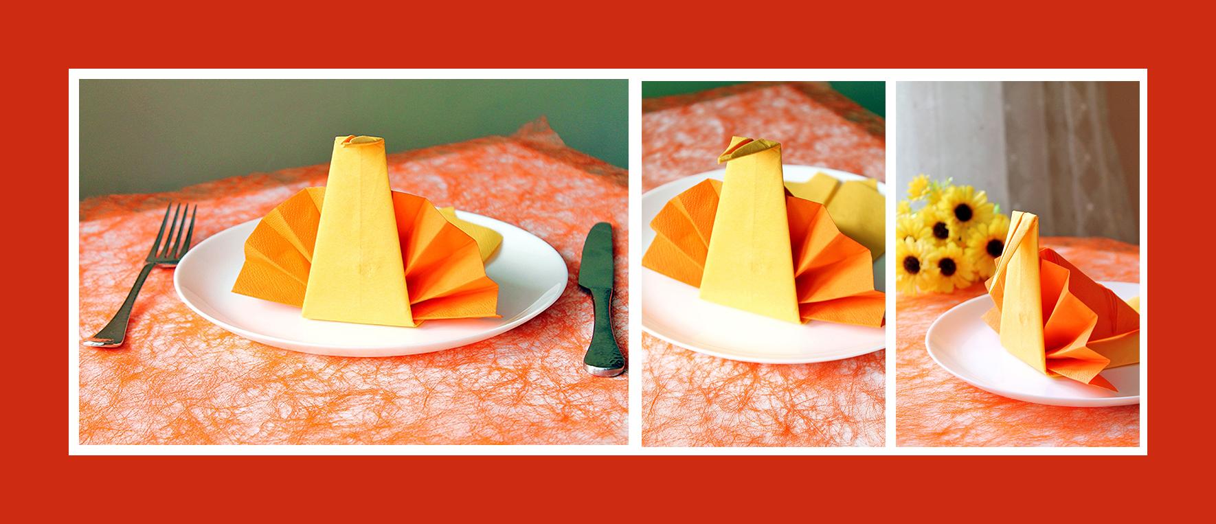 Servietten falten Tischdeko Geburtstag