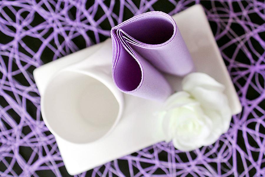 Servietten falten zum Frühstück