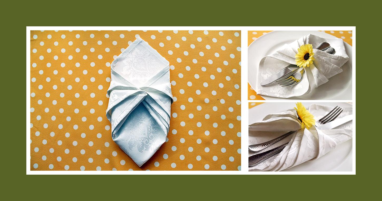 Bestecktasche für Hochzeit falten