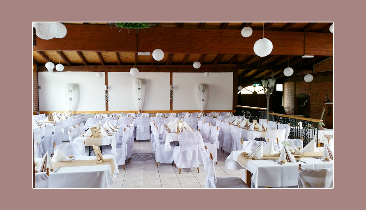 Hochzeitsdekoration Restaurant Landhaus Siebe Hattingen Essen